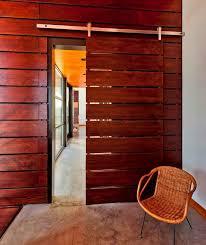 wood panels sliding door