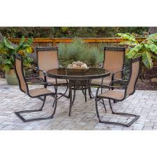 approved durable glass top dining table monaco  piece outdoor dining set with c spring chairs glass top dining