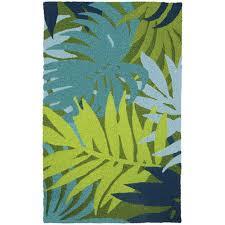 jellybean blue palms indoor outdoor rug