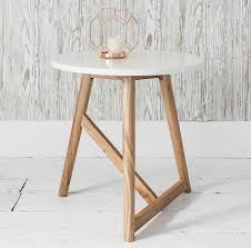 gallery direct hamar white side table round