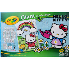 The character's first appearance on an item, a vinyl coin purse, was introduced in japan in. Crayola Giant Coloring Pages Featuring Hello Kitty 18 Count Walmart Com Walmart Com
