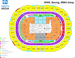Wwe Raw Live Ppg Paints Arena