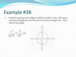 10 example 3b find the equation of an ellipse with foci