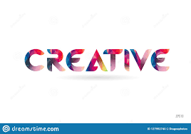 Word Design Creative Colored Rainbow Word Text Suitable For Logo Design