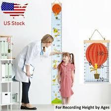Wooden Kids Growth Chart Children Room Decor Wall Board