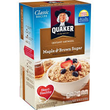 quaker oatmeal instant maple brown sugar oatmeal