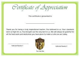 Wording For Certificates Sample Certificate Of Appreciation