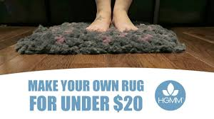 Make Your Own Rug or Bath Mat for Under $20 - Any Color, Shape or Size!
