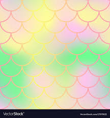 Mermaid Tail Pattern Cool Pastel Fish Skin With Scale Pattern Mermaid Tail Vector Image