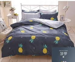 home decor 3d pineapple comforter bedding set tropical fruit print bedspreads kids bedclothes duvet cover twin full queen king blue duvet covers best