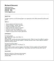 Purchasing Manager Resume Purchaser Samples Procurement Agent Job