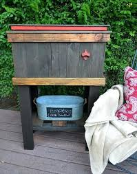 wood deck coolers wood deck cooler outdoor wood cooler diy wood deck coolers outdoor