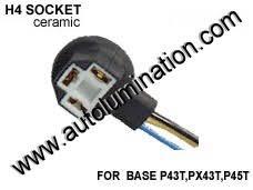 automotive car truck light bulb connectors sockets wiring 9003 Wiring Diagram h4 9003 p43ts headlight ceramic socket pigtail connector harness wiring 9003 wiring diagram