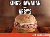 arby s king s hawaiian roast beef nutrition