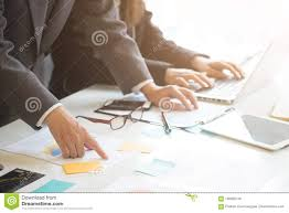 Startup Business Concept Businessman Consult With Paper