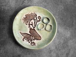 Small Decorative Plates Ceramic Ring Holder Etsy
