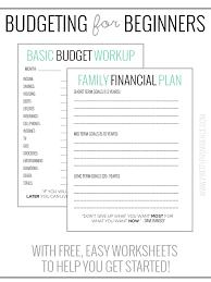 Printable Basic Budget Worksheet Download Them Or Print