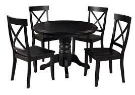 black dining room sets round. Amazon.com - Home Styles 5178-318 5-Piece Dining Set, Black Finish Table \u0026 Chair Sets Room Round