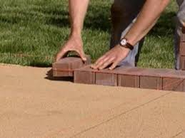 Laying Pavers On Sand Or Gravel Paving Backyard With DaznDi How To Install Pavers In Backyard