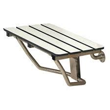 folding shower bench x folding shower bench slatted white