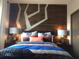 Boy teen room, snowboard themed room. PBteen