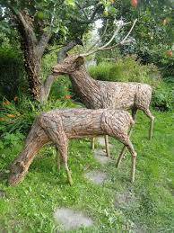 bark copper wood garden or yard outside and outdoor sculpture by sculptor tessa hayward titled