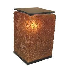 fangio lighting heater cube. amber brown cube floor lamp with abstract natural weave fangio lighting heater f