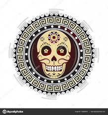 тату мексиканский череп сахарный череп тату дизайн векторное