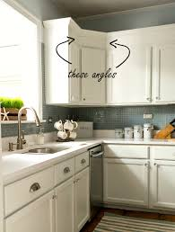 Kitchen Upper Cabinet Height Builder Grade Kitchen Makeover With White Paint