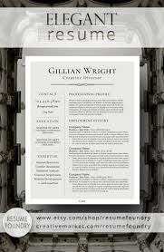elegant resume template the gillian easy to use resume templates