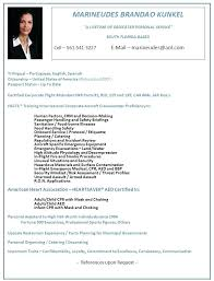 Resume Format Sample Cv For Cabin Crew Template Newest