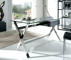 modern glass office desk. Contemporary Glass Office Desk Furniture Alluring Modern And Steel Ideas Architect I
