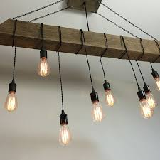 a custom reclaimed barn beam light fixture bar restaurant home edison bulb rustic modern industrial made to order from 7m woodworking custommade