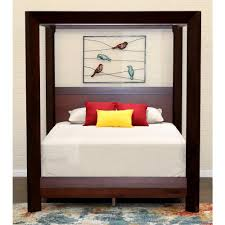 Island Mocca Queen Canopy Bed-6807MOC - The Home Depot