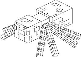 minecraft spider coloring pages minecraft spider coloring page