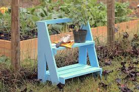 an easy inexpensive diy garden shelf
