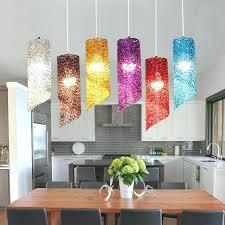 custom blown glass pendant lights hand australia stairs red white blue led lamps modern dining room