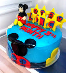 Baby Mickey Mouse Edible Cake Decorations Mickey Mouse Clubhouse Cake Baby Lincs 5th Month Aj Food