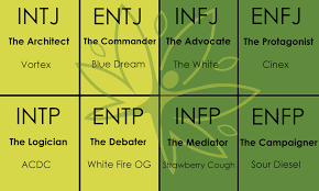 Mbti 16 Types Chart Whats Your Your Myers Briggs Personality Types Best Weed