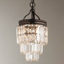 layered lighting. Modern Faceted Glass Layered Pendant - Convertible Bronze Lighting