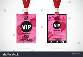 507885085 Stock royalty Card Free Set Member Vip Lanyard Vector