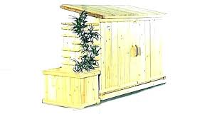 outdoor trash can enclosure garbage storage plans outside kit for kitchen tr