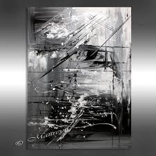 oil painting on black canvas unique oil painting black white abstract art 40 artwork on
