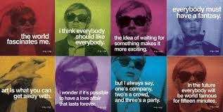 andy warhol s most famous pieces are marilyn monroe screenprints deteriating throughout the continueing images in many rows of the piece