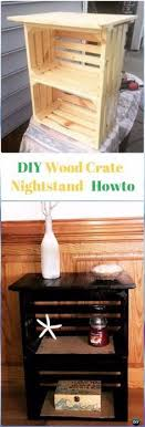 diy crate furniture. DIY Wood Crate Nightstand Instructions Video- Furniture Ideas Projects Diy