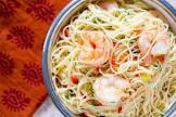 angel hair pasta   shrimp salad