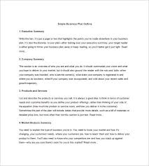 example of a business plan business plan template examples business plan outline template 7