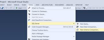 Schema Comparisons Using Visual Studio Sql Data Tools