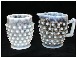 hobnail glass antique opalescent hobnail glass sugar and creamer hobnail milk glass lamp globe