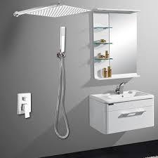 Details Zu Unterputz Duschsystem Thermostat Kopfbrause 300x300mm Regendusche Set Badezimmer